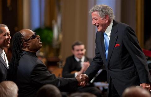 POTUS/FLOTUS at Stevie Wonder honor event