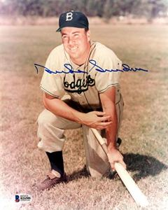 Duke Snider poses with bat